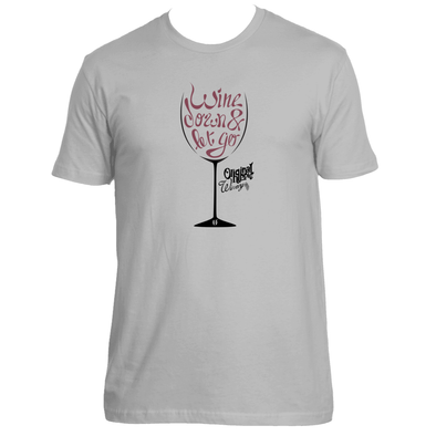 Original Hippie® - Wine Down Short Sleeve T-Shirt - Light Grey