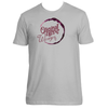 Original Hippie - Wine Stain Short Sleeve T-Shirt - Light Grey