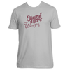 Original Hippie® - Winery Name Maroon - SS T-Shirt - Light Grey
