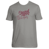 Original Hippie® - Winery Name Maroon - SS T-Shirt - Warm Grey