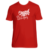 Original Hippie™ - Winery White Name SS T-Shirt - Red