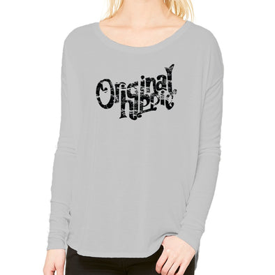 Original Hippie - Women's Flowy Long Sleeve Tee - Athletic Grey