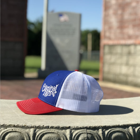 Original Hippie™ Red, White and Blue Trucker Cap