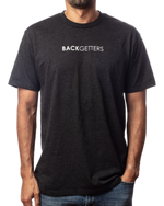 "Men's inspirational vintage black t-shirt ""You>Your Obstacles"" front view"