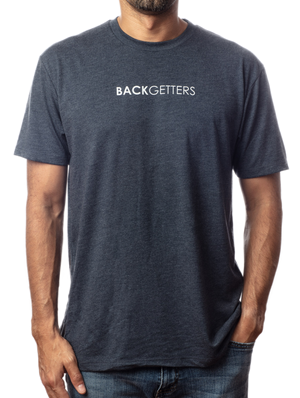 "You Matter Shirt | Super soft men's inspirational vintage navy t-shirt with ""You Matter"" design front view"