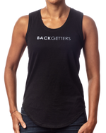 "Women's inspirational black tank top ""You are Loved"" design front view"