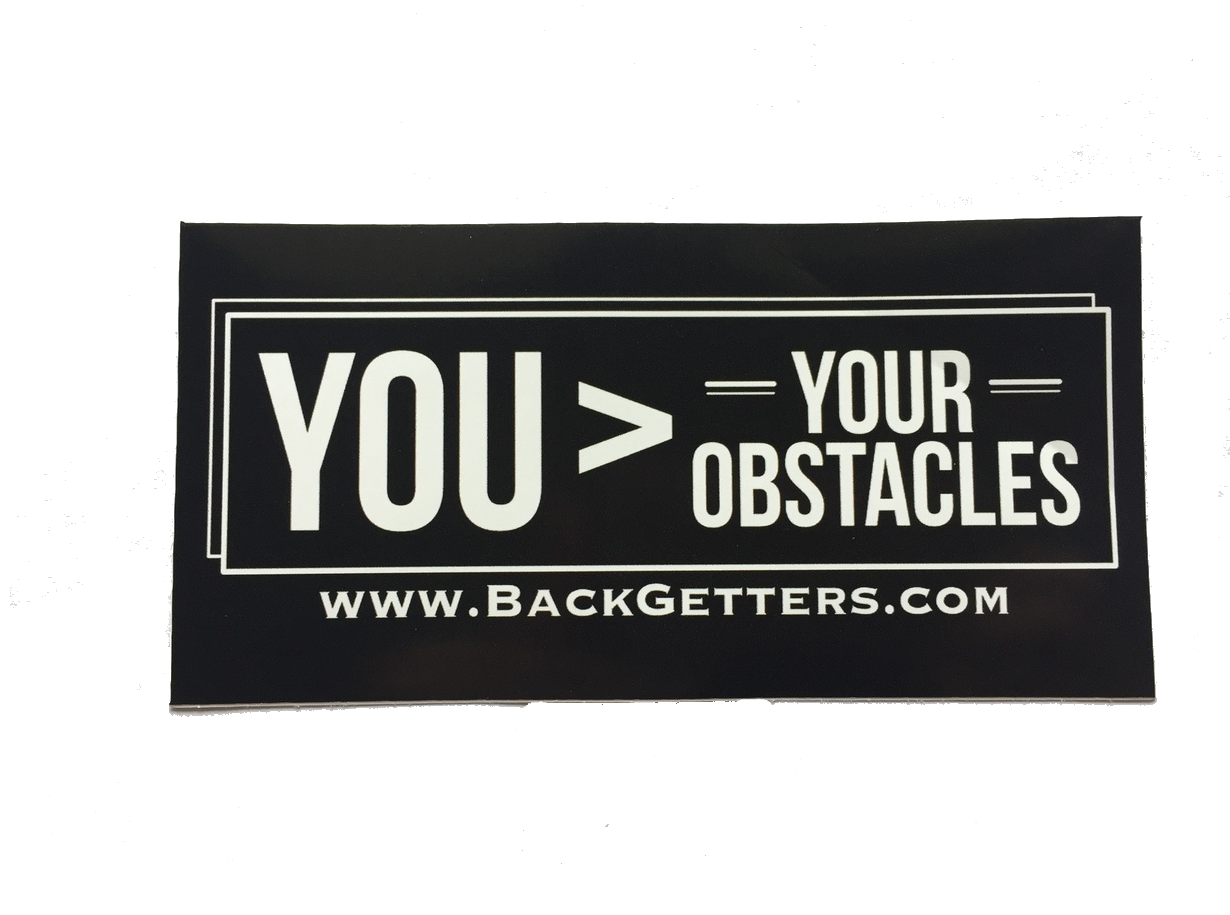Inspirational Bumper Stickers  | Inspirational Bumper Sticker You > Your Obstacles
