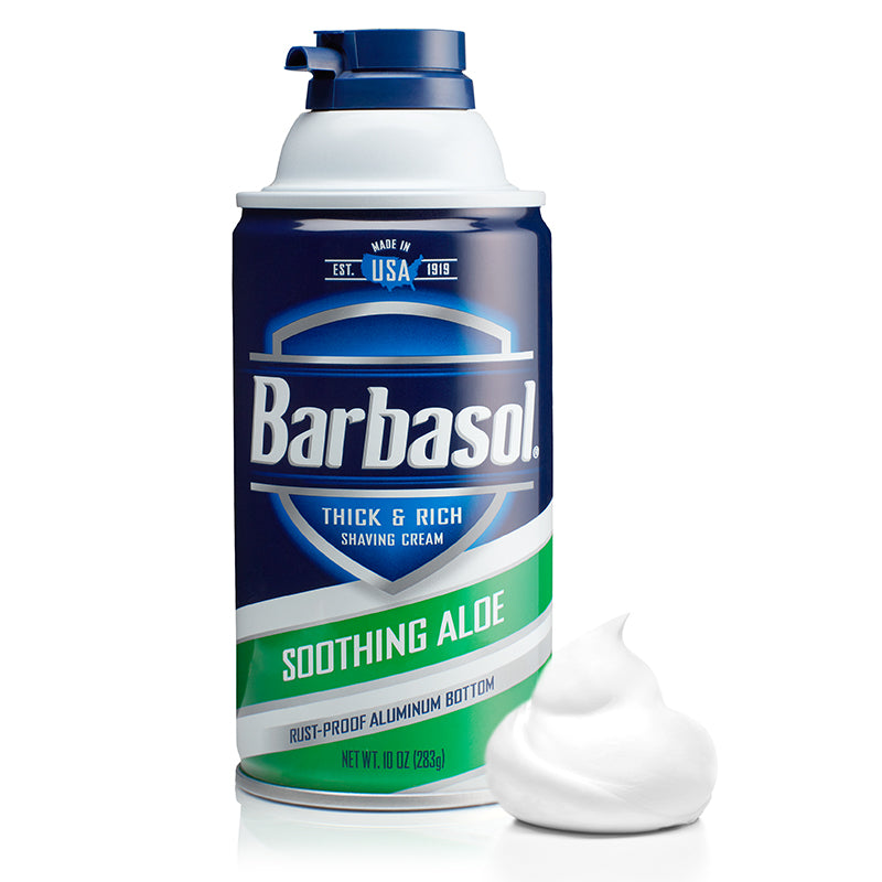 Barbasol Soothing Aloe Thick & Rich Shaving Cream Made in USA