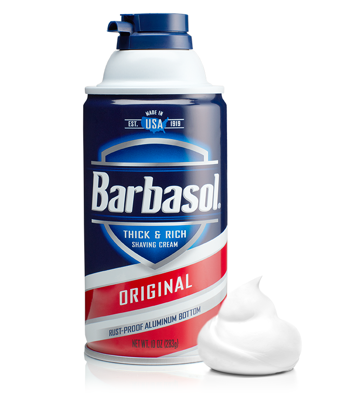Barbasol Original Thick & Rich Shaving Cream Made in USA