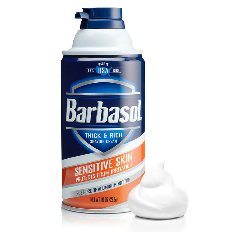 Barbasol Sensitive Skin Thick & Rich Shaving Cream Made in USA