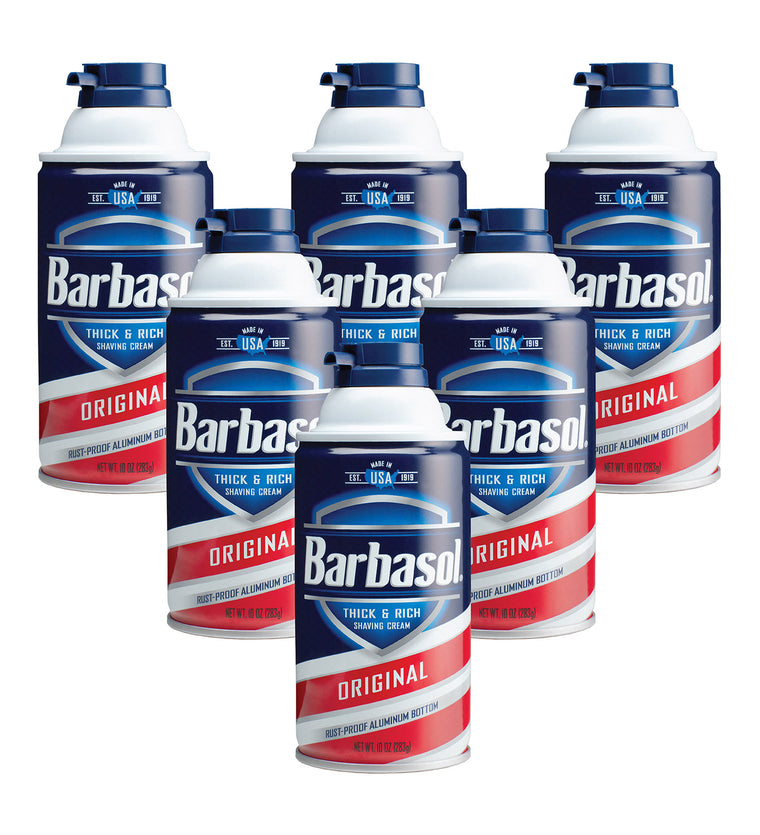 Barbasol Original Thick & Rich Shaving Cream, 10 Ounces (Pack of 6)