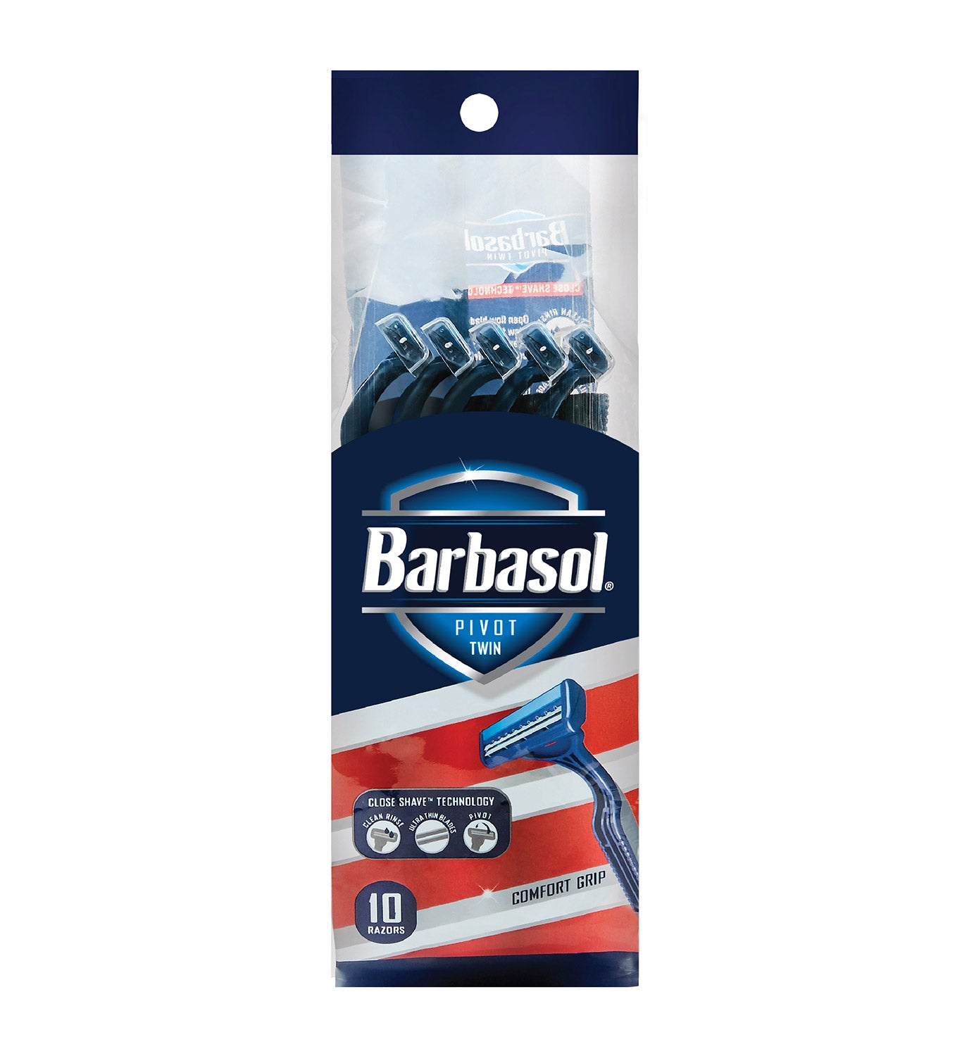 Barbasol Pivot Twin Disposable Razors, 10 Count