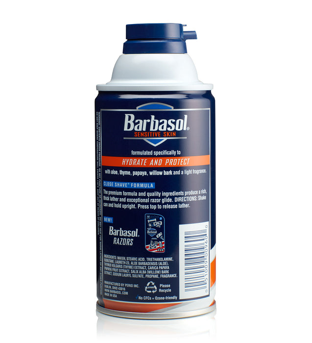 Barbasol Sensitive Skin Thick & Rich Shaving Cream, 10 Ounces (Pack of 6)