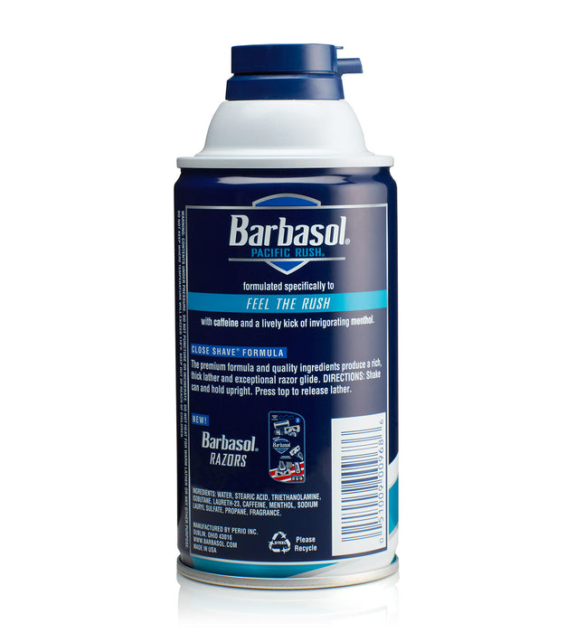 Barbasol Invigorating Formula Pacific Rush® with Caffeine and Menthol Thick & Rich Shaving Cream