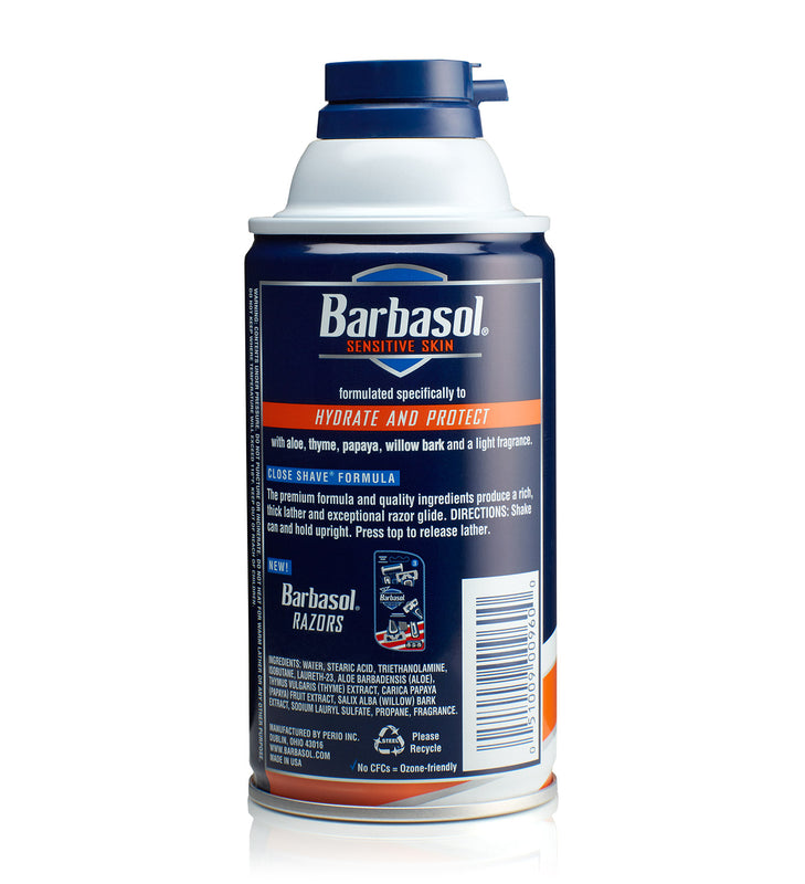 Barbasol Sensitive Skin Thick & Rich Shaving Cream
