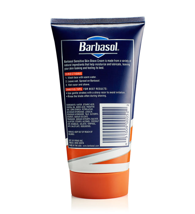 Barbasol Non-Aerosol Sensitive Skin Moisturizing Shaving Cream