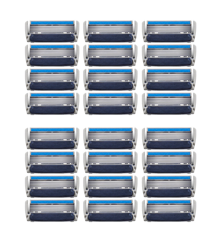 Barbasol Ultra 6 Plus Razor Blade Cartridge Refills, 24 Count (6-12 Month Supply*)