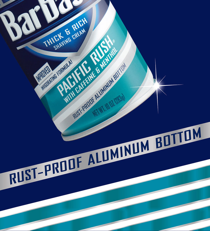 Barbasol Pacific Rush® with Caffeine and Menthol Thick & Rich Shaving Cream, 10 Ounces (Pack of 6)