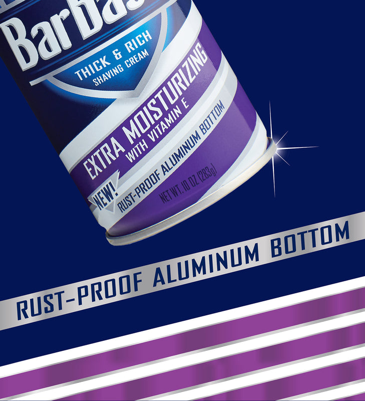 Barbasol Extra Moisturizing with Vitamin E Thick & Rich Shaving Cream, 10 Ounces (Pack of 6)