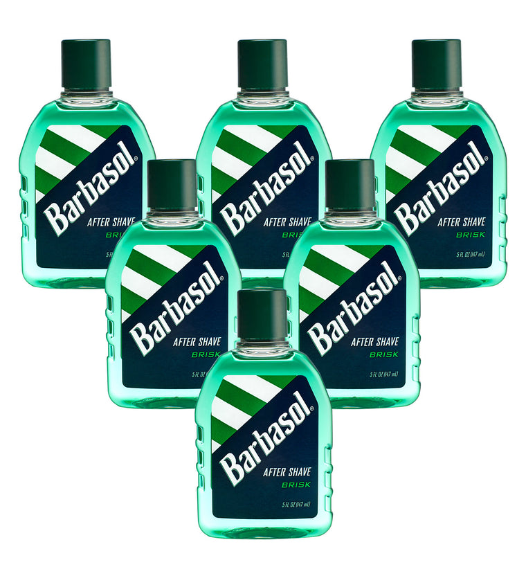 Barbasol Brisk After Shave, 5 Ounces (Pack of 6)