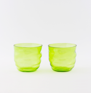 Poseidon English Green Wasserglas ~ 2er-Set