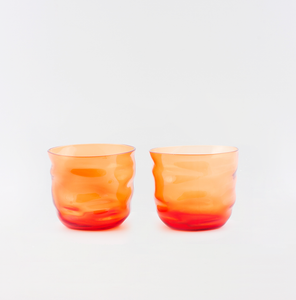 Poseidon Light Orange Wasserglas ~ 2er-Set