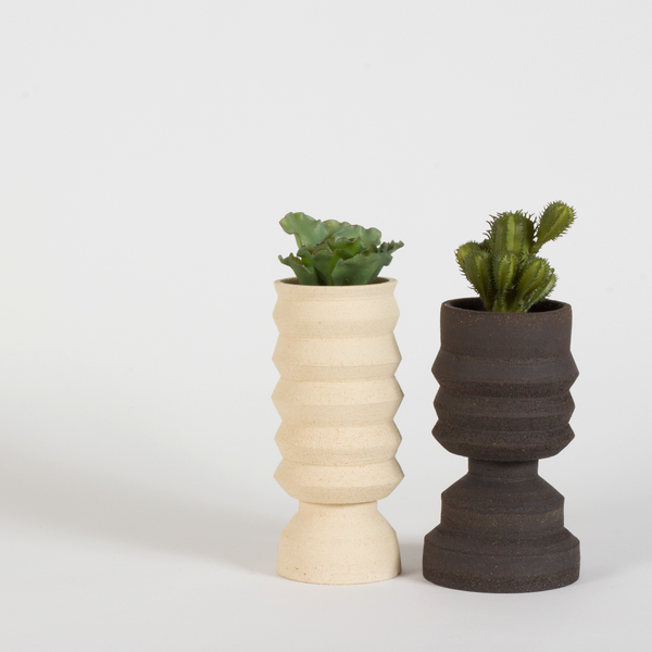Plant Pot ~ Black Textured