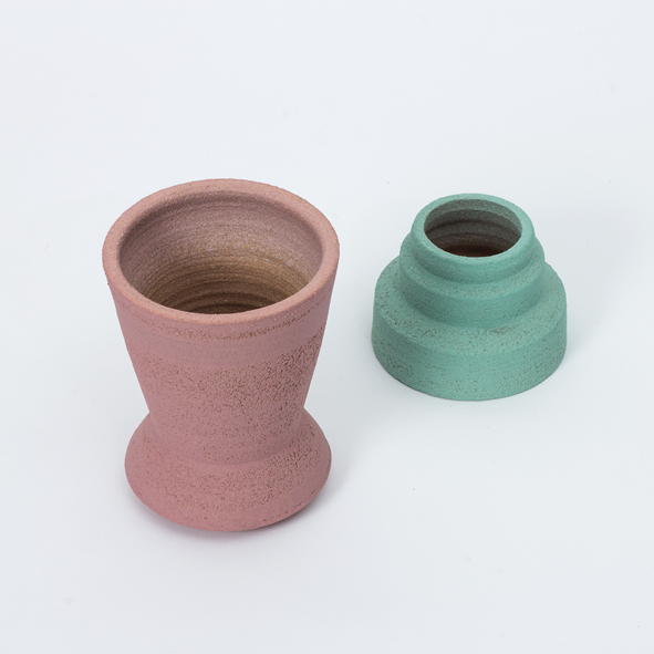 Plant Pot ~ Pink/Turquoise