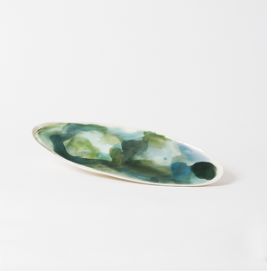 Watercolor Platter ~ Green ~ L