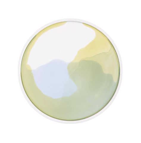 Aqua Platter ~ Yellow/Green/Blue