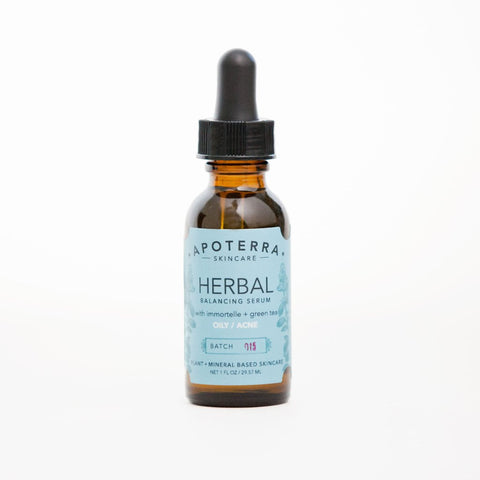 月見草蠟菊抗痘精華油 Herbal Balancing Serum with Immortelle + Green Tea