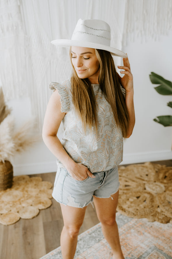 Grey suede ankle booties with a scrunch top and short kitten heel.