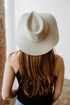 The Brixton Maya Fedora in the color Gravel is the perfect floppy fedora hat for warmer weather!