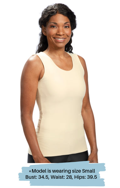 Ava Compression Camisole - Nude, Lilac and Black - NEW!  Seamless Front - Pocketed