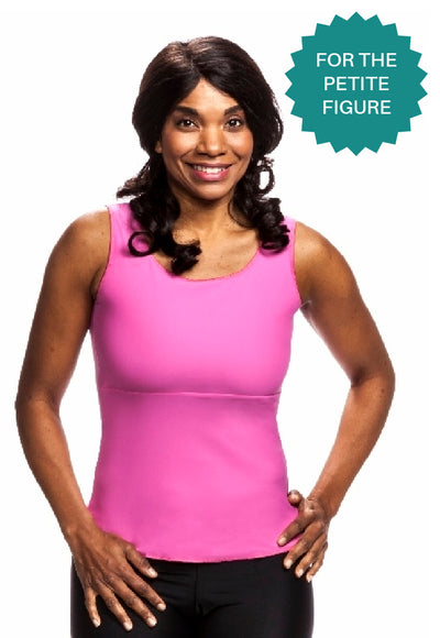 Compression Camisole (Short Slimmer) - Sleek and Simple - Best for petite figure under 5' 4