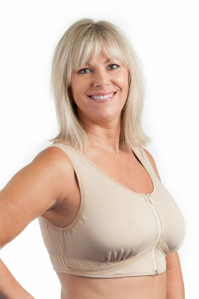 Grace Post-Surgical Bra by Wear Ease® - Front Zip. Cool, Comfortable, Dries Quickly