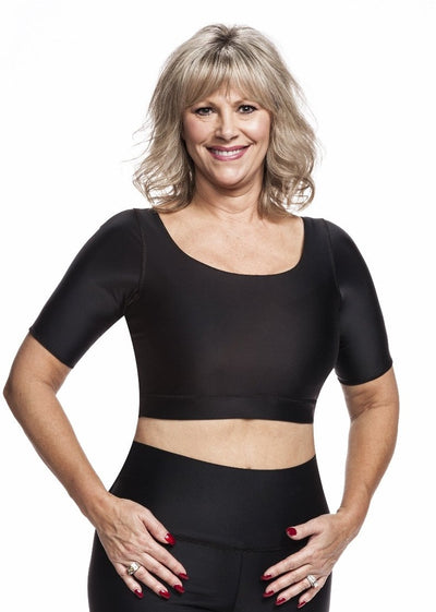 Compression Crop Top--Sleek and Easy to Wear--Great for Layering