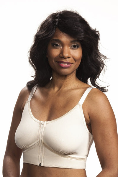 Allyson Post-Surgical Bra by Wear Ease® also available in light cream and black.