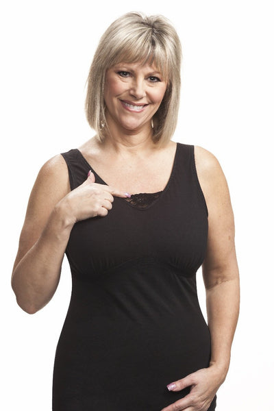 Dawn Post-Surgical Camisole by Wear Ease® Black -  Special Pricing!
