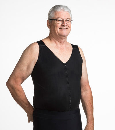 Men's V-Neck Torso Compression Vest - Designed to treat mild edema and lymphedema