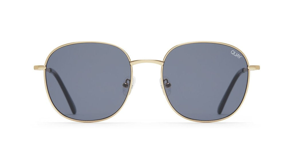 Quay Australia Jezabell Sunglasses in Gold with Black Lenses
