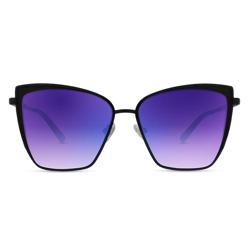 DIFF Eyewear Becky Sunglasses - Black/Purple