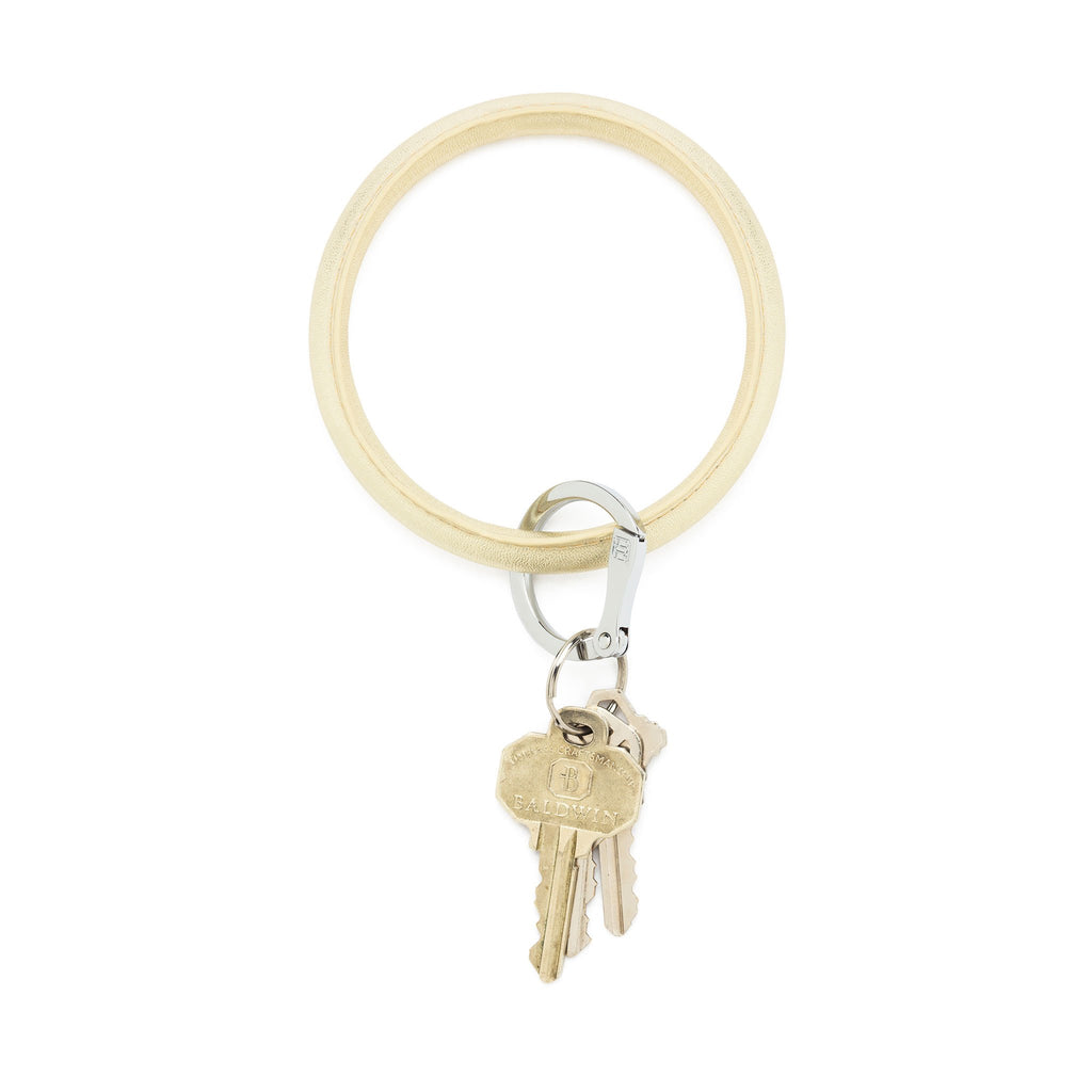 Big O Leather Keyring - Gold Rush