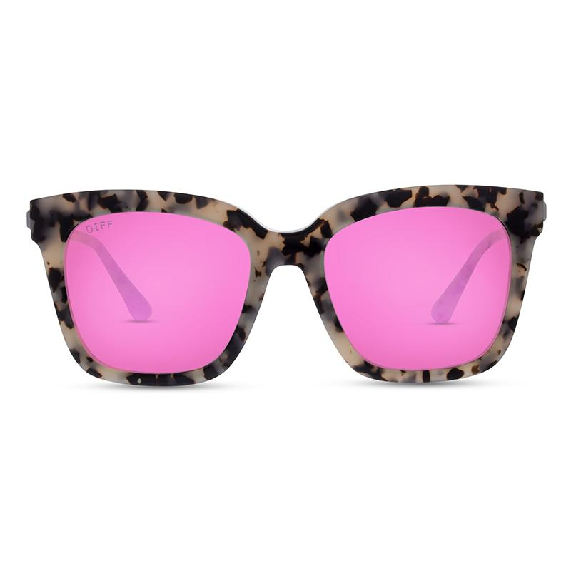 DIFF Eyewear Bella Sunglasses - Cookies and Cream/Pink
