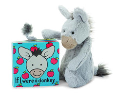 Jellycat If I Were a Donkey Book and Plush Animal Set