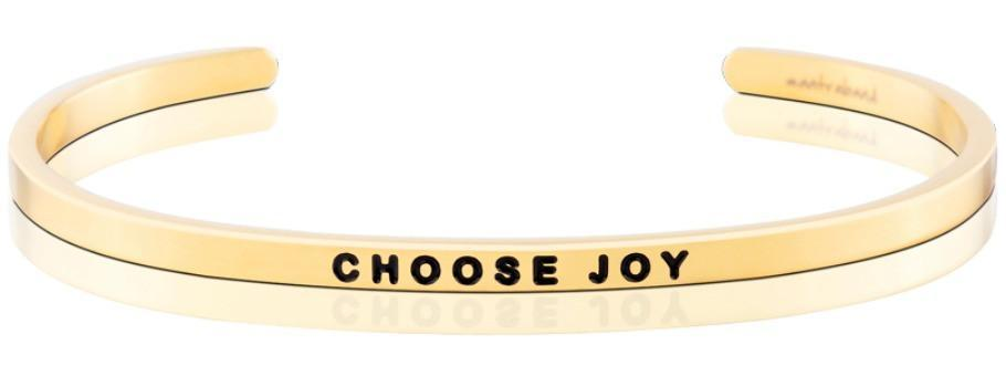 Choose Joy Mantraband - Gold