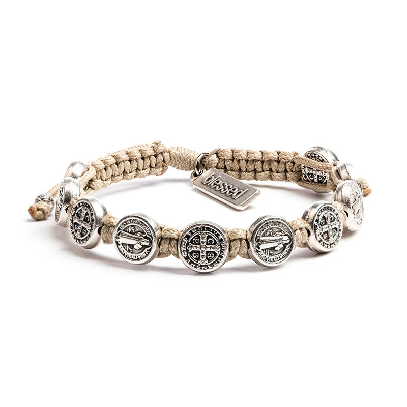 Confirmation Bracelet - Cream with Silver