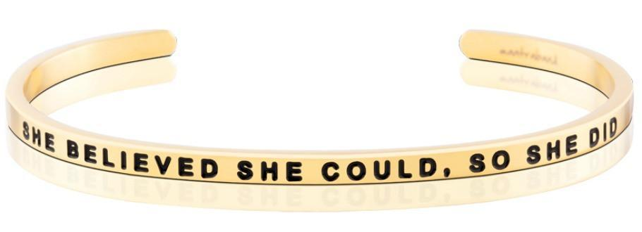 She Believed She Could, So She Did Mantraband - Gold