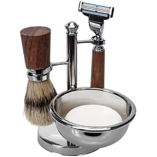 Men's Shave Set - Rosewood and Chrome