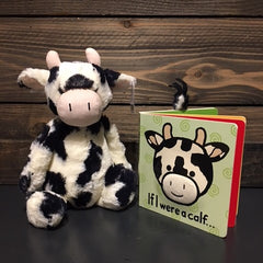 Jellycat If I Were a Calf Book and Plush Animal Set